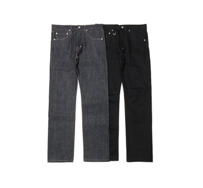 Selvedge Raw Denim Pants (Tight-Fit)