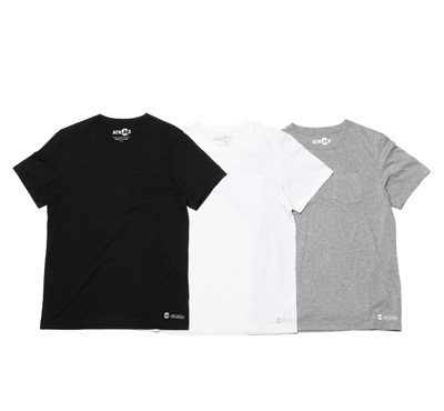 Crew-Neck Pocket T Shirt