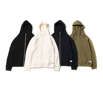 HI-NECK FREEDOM SLEEVE SWEAT ZIP UP HOODIE