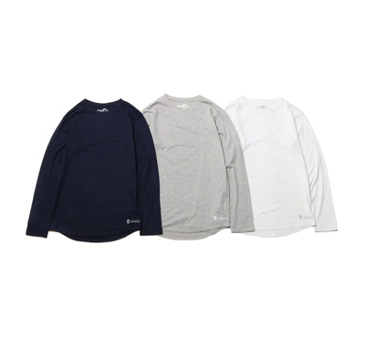 COOLMAX® Crew-Neck Long Sleeve