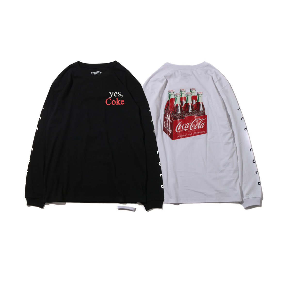 COCA-COLA by ATMOS LAB 6 BOTTLES LS TEE