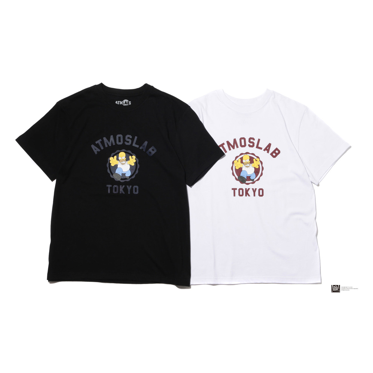 THE SIMPSONS x ATMOS LAB COLLEGE TEE (HOMER)