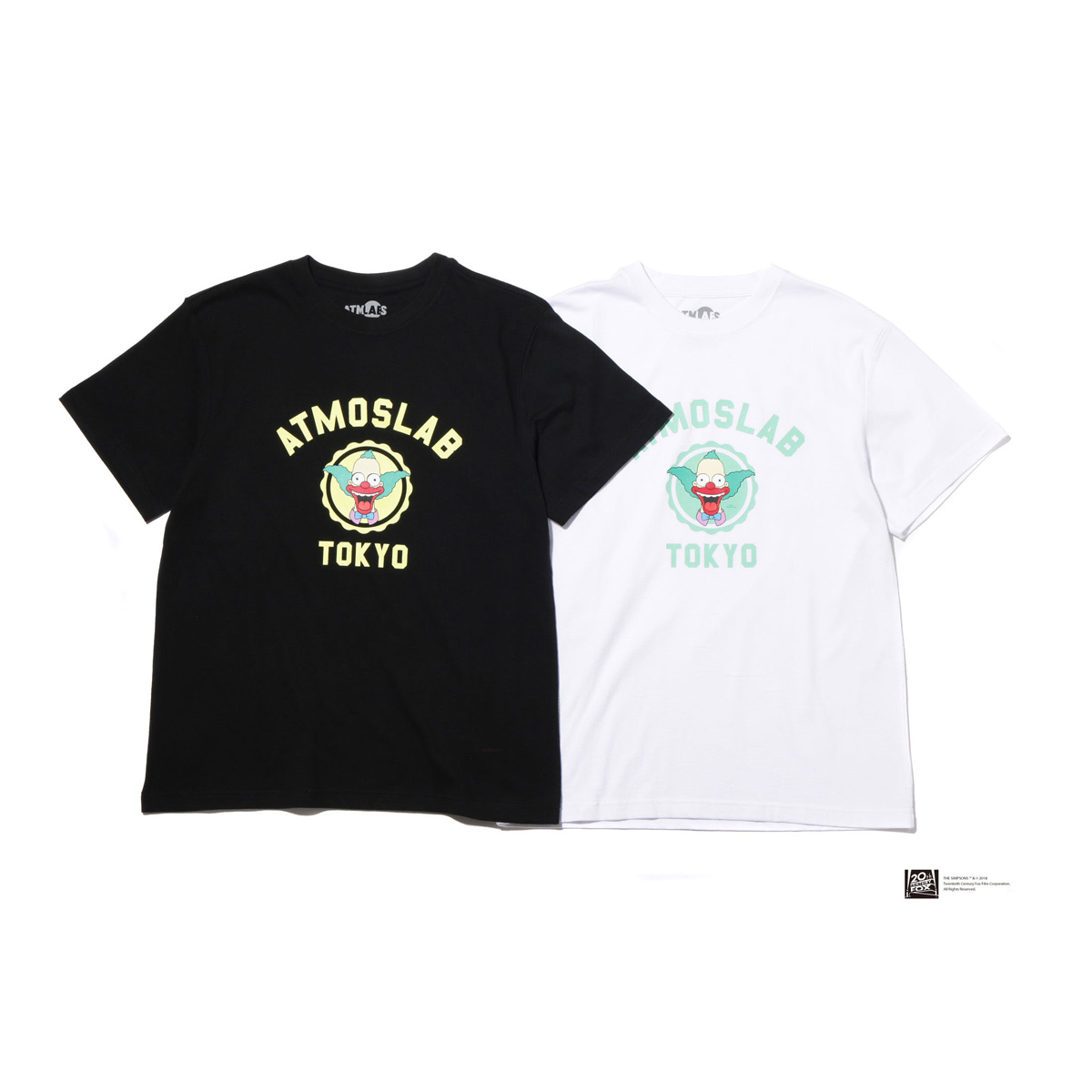 THE SIMPSONS x ATMOS LAB COLLEGE TEE (KRUSTY)