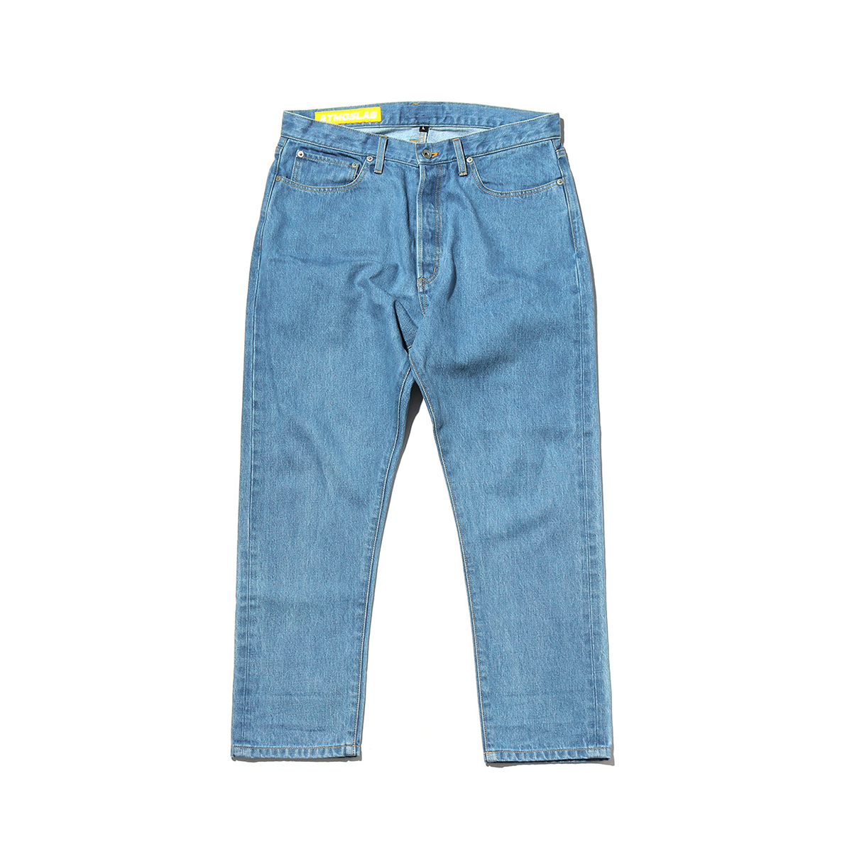 ATMOS LAB LASER LOGO DENIM PANTS