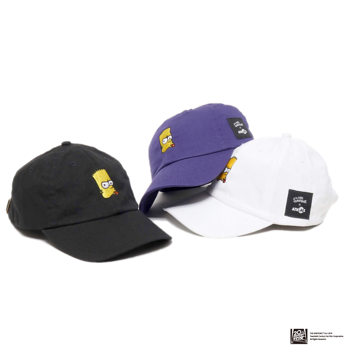 THE SIMPSONS x ATMOS LAB BART EMBROIDERY 6 PANEL CAP