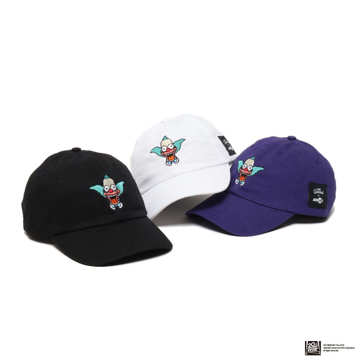 THE SIMPSONS x ATMOS LAB KRUSTY EMBROIDERY 6 PANEL CAP