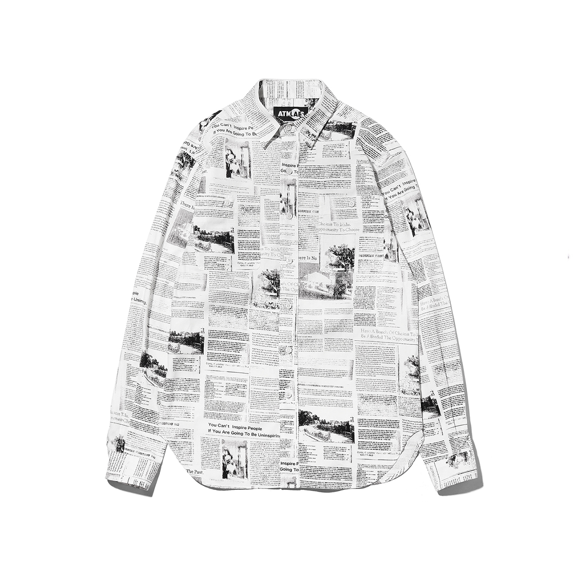 ATMOS LAB NEWS PAPER SHIRT