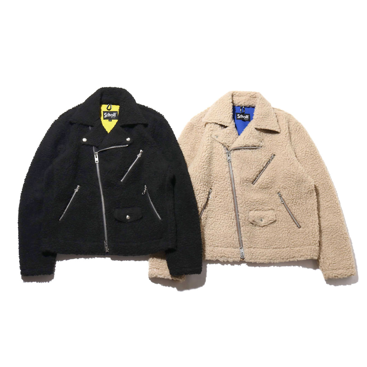 SCHOTT x ATMOS LAB FLEECE RIDERS JACKET