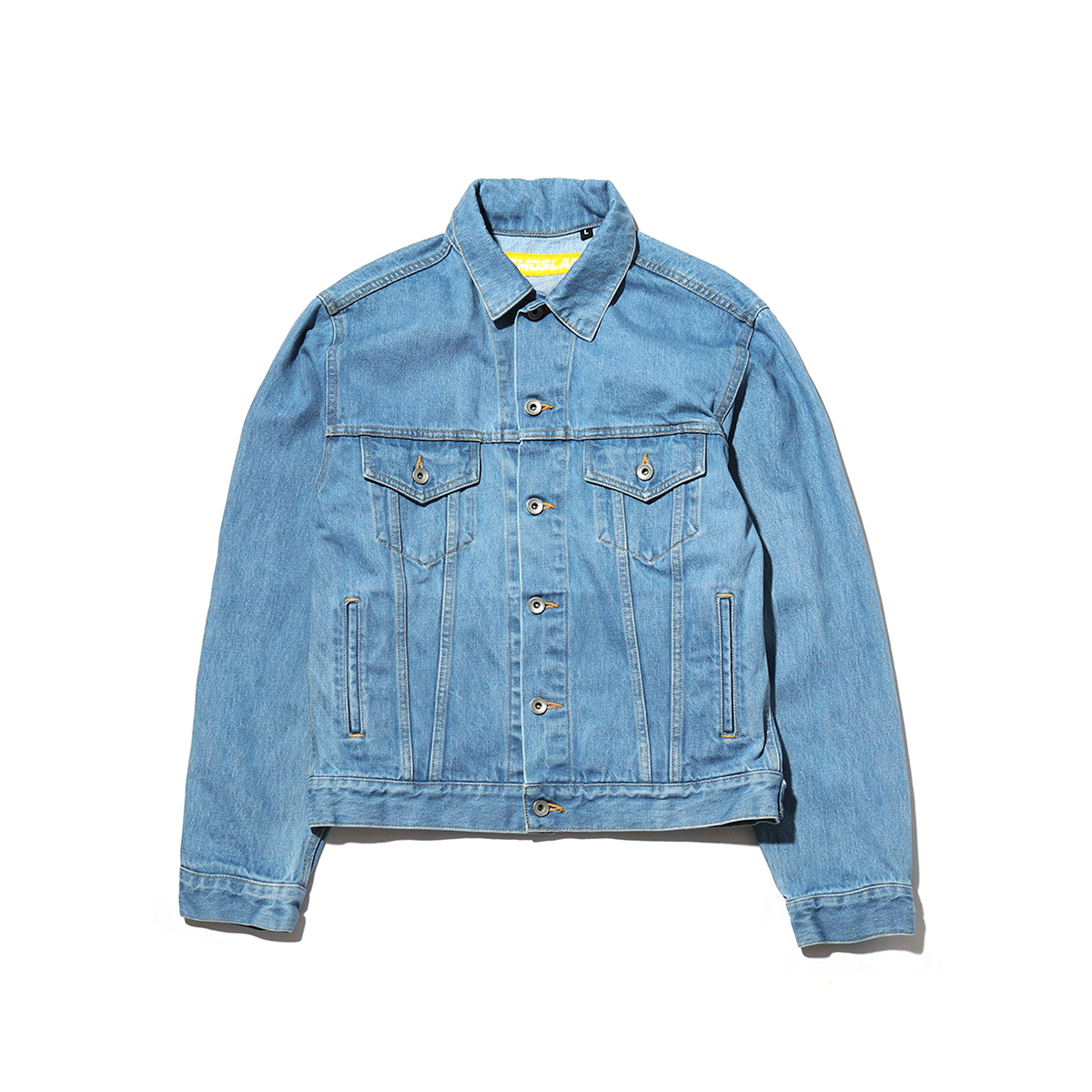 ATMOS LAB LASER LOGO DENIM TRUCKER JACKET
