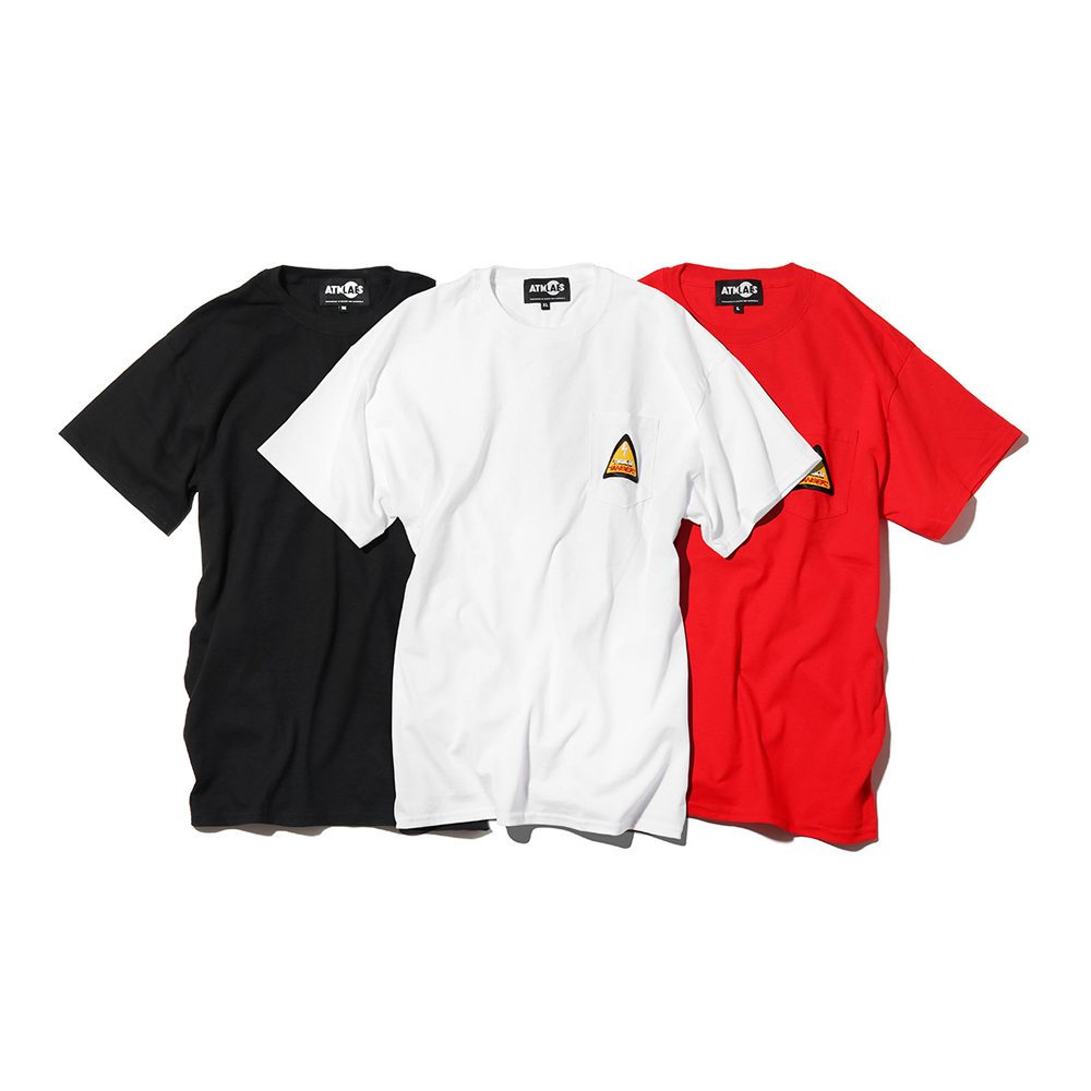 ATMOS LAB DANGER LOGO POCKET TEE