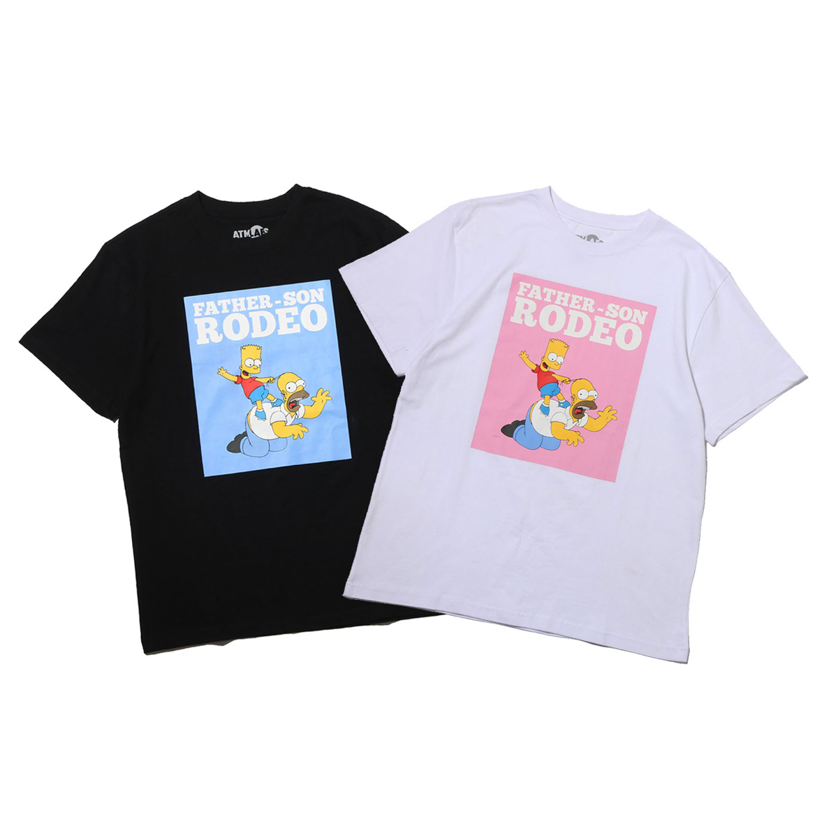 THE SIMPSONS x ATMOS LAB HOMER&BART RODEO TEE
