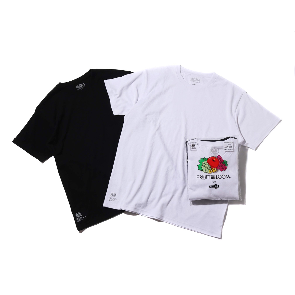 FRUIT OF THE LOOM x ATMOS LAB CREW NECK PACK TEE