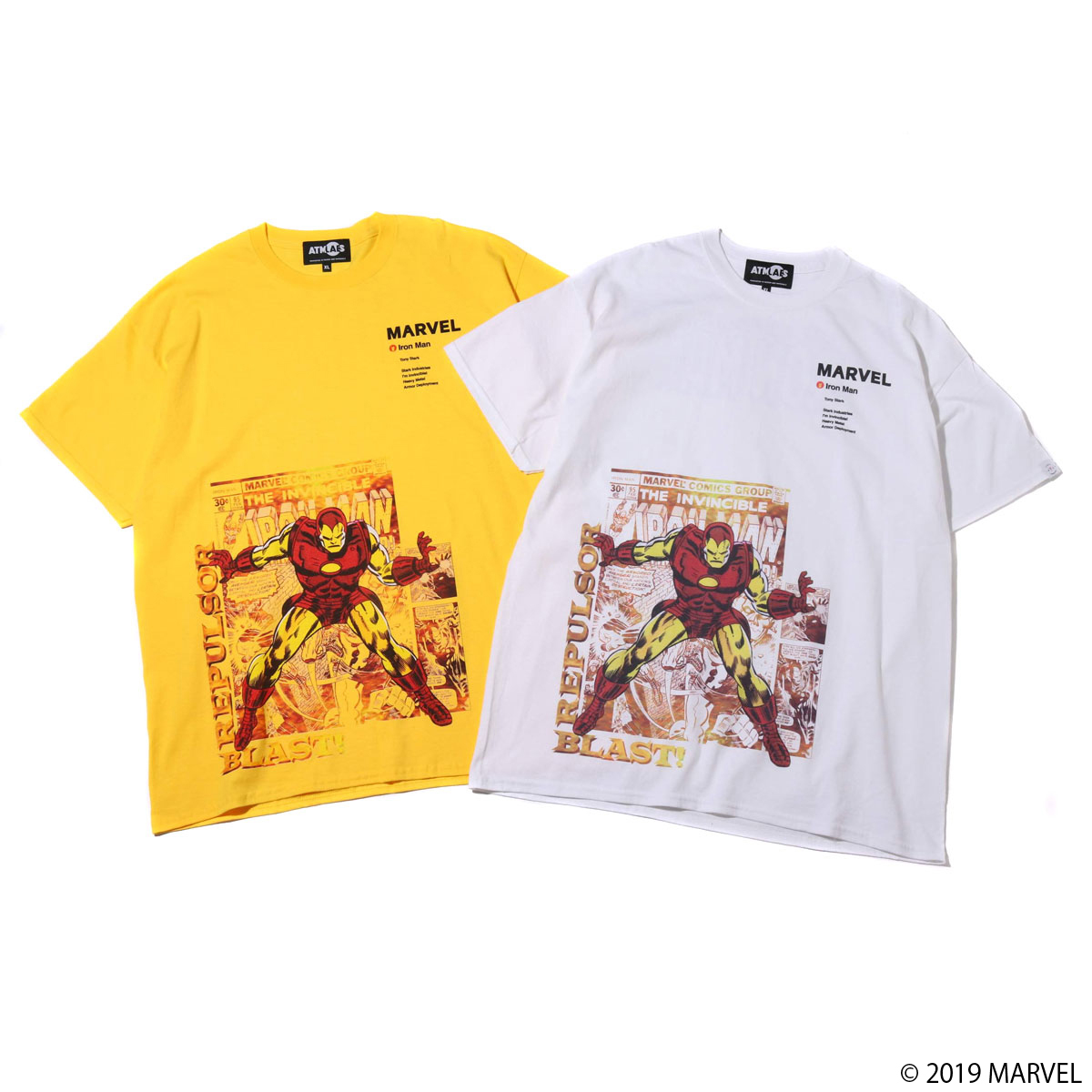 MARVEL x ATMOS LAB TEE IRON MAN