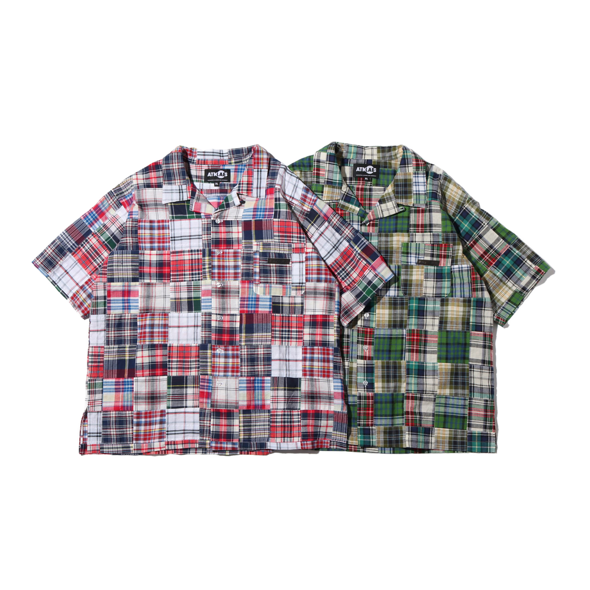 ATMOS LAB PATCHWORK OPEN COLLAR SHIRT