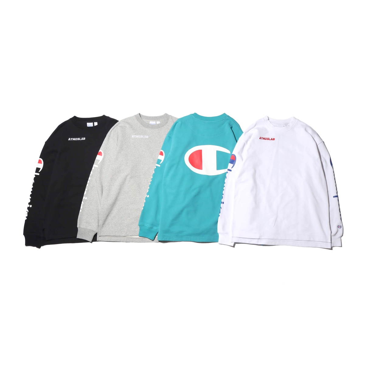 Champion × ATMOS LAB CREW NECK SWEATSHIRT