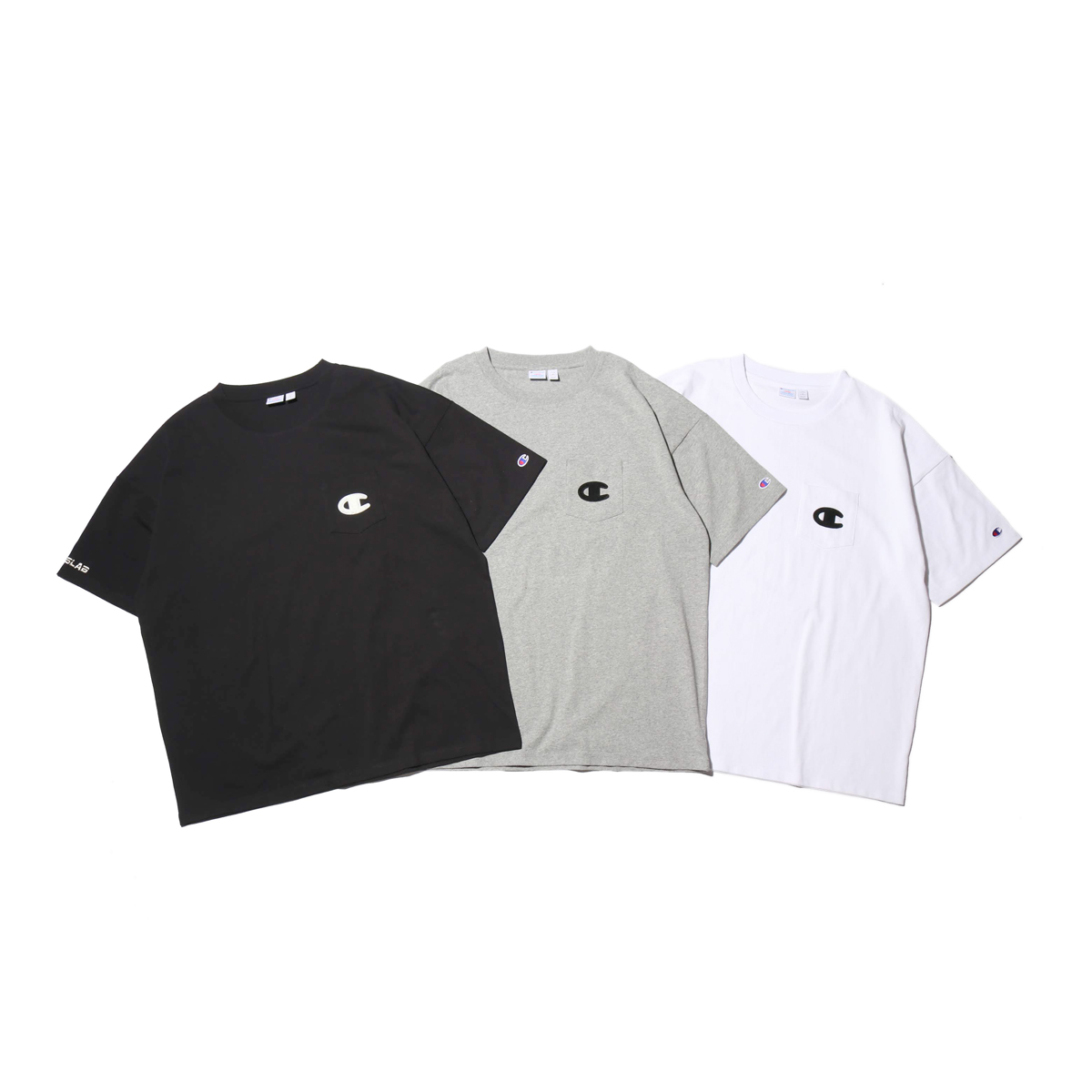 Champion × ATMOS LAB S/S POCKET T-SHIRT